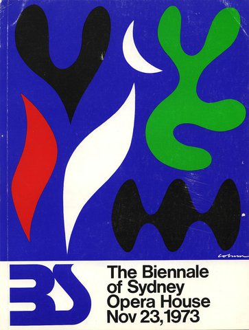 Inaugural Biennale of Sydney (1973) exhibition catalogue cover