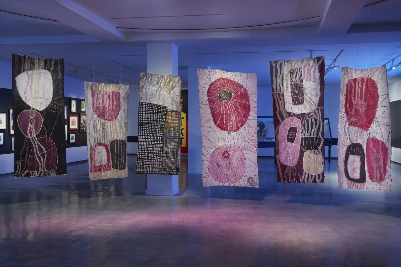 Noŋgirrŋa Marawili, installation view. Photograph: Zan Wimberley