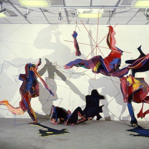 Lutz Presser, Hanging, Falling Skins, 1981