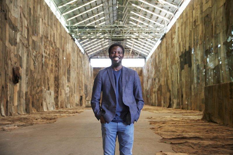 Ibrahim Mahama, No Friend but the Mountains 2012-2020. Photograph: Zan Wimberley