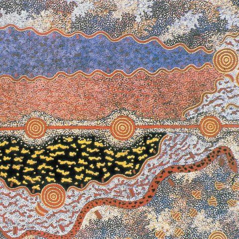 Michael Nelson Tjakamarra, Possum Dreaming, 1985