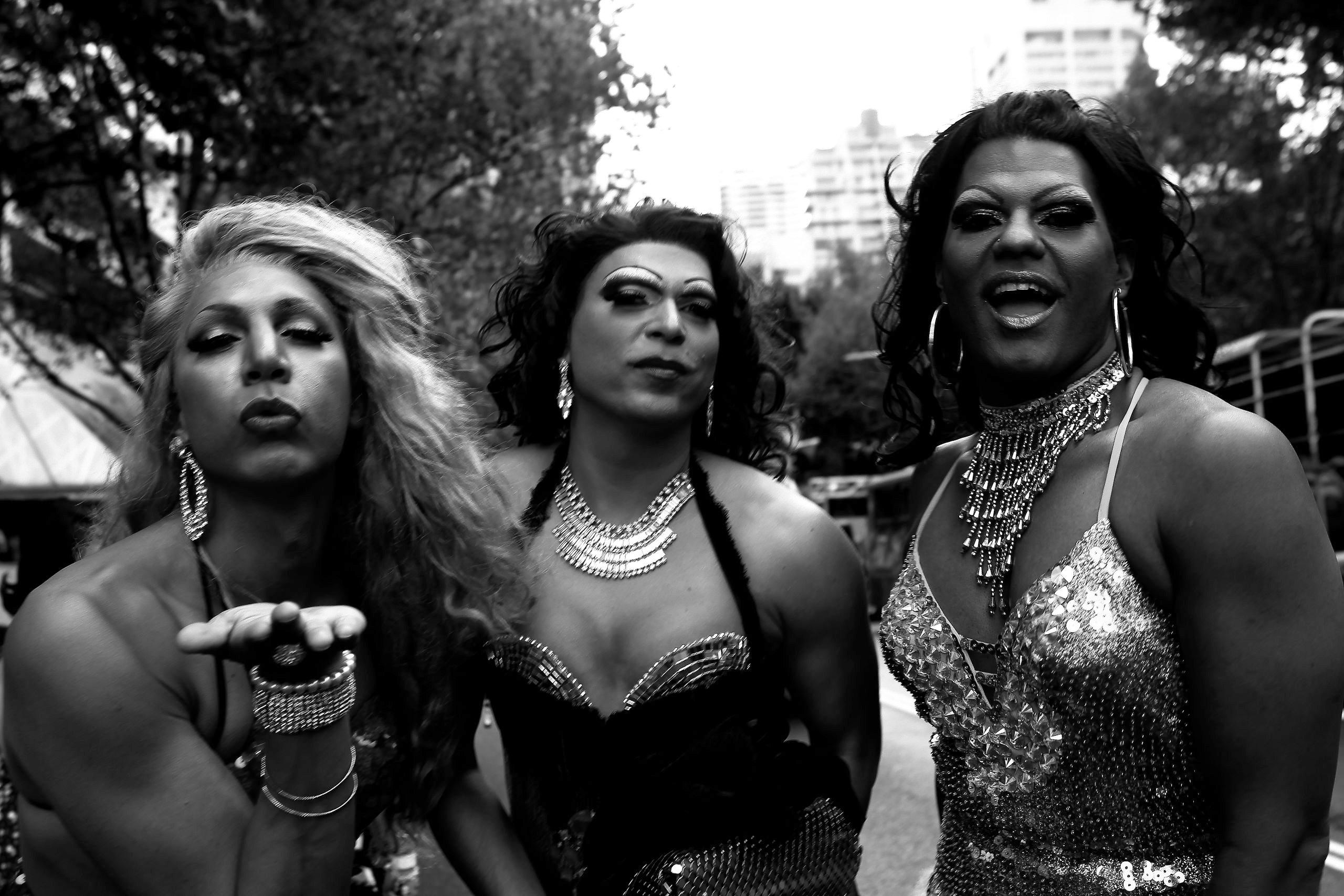 Barbara McGrady, Sister Girls stylin up, Mardi Gras, 2013